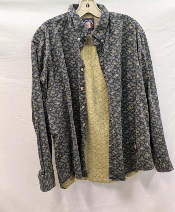 Men's Patterned Button-Up (L)